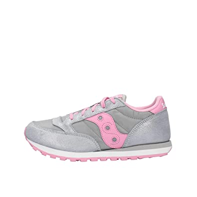 new products b5a7c 9c7aa Saucony Chaussures Fille Sneakers Low SK161006 Jazz Original Taille 35.5  Argento Rosa