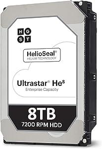 """HGST Ultrastar 8TB 7200RPM SATA 6Gb/s 128MB Cache 3.5"""" Hard Drive HUH728080ALE600"""