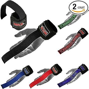 Figure 8 Lifting Straps Training Gym Bar Padded Wrist Support Straps Black