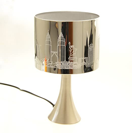 Table bedside touch lamp shade white london new york paris city table bedside touch lamp shade white london new york paris city design aloadofball Image collections