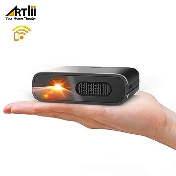Proyector Portátil WiFi- Artlii Mana Mini Proyector DLP, Batería Recargable para Películas y Fiestas al Exterior, Compatible con iPhone Android: Amazon.es: ...