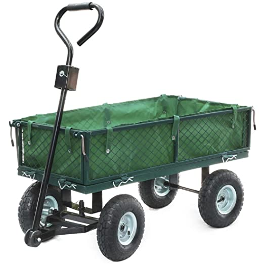 Mano Carro con extraíble lona 300 kg – Carretilla de transporte dispositivo carro