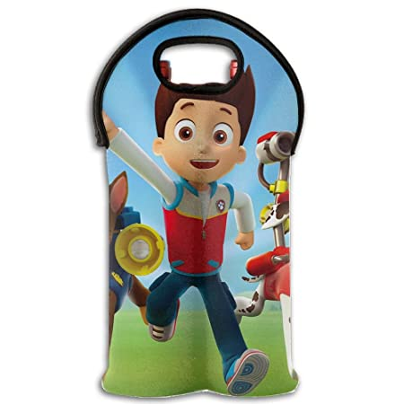 Paw Patrol Chase Wallpaper Wine Totes And Carriers 2 Pack Insulated Neoprene