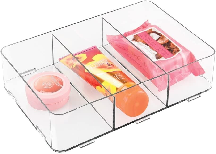 3 Scomparti Medio 30.5x30.5x7.5 cm InterDesign Clarity Organizzatore Cassetti