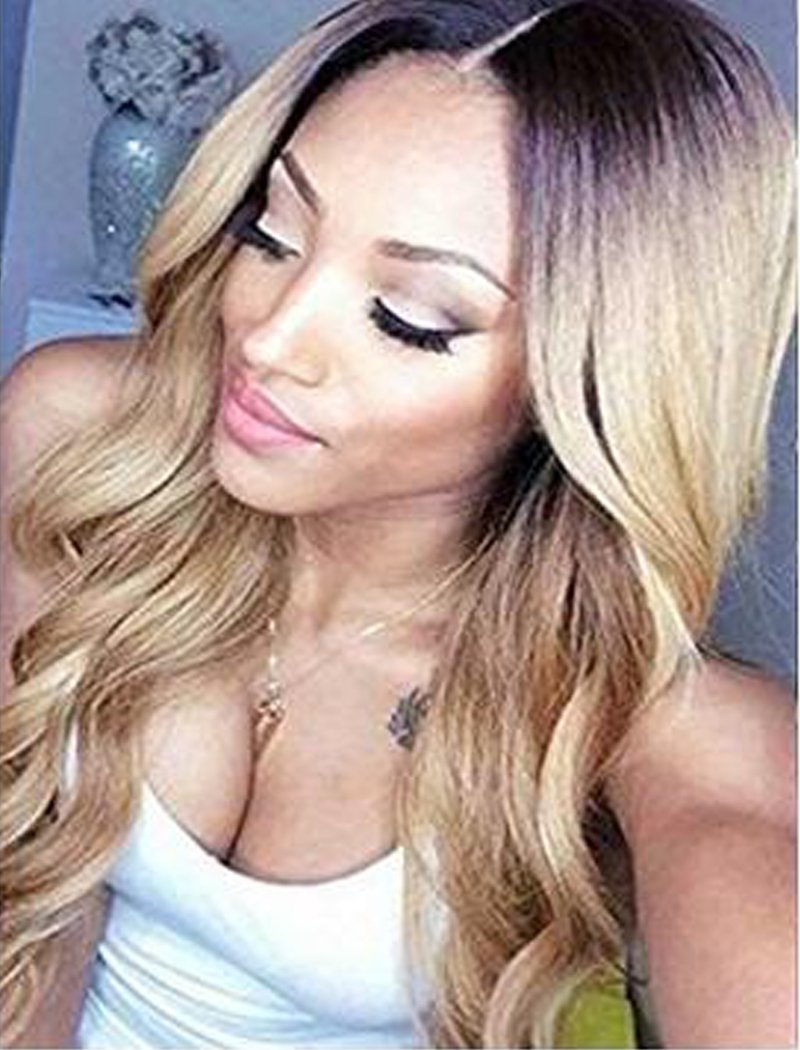 Tsnomore Ombre Color Cosplay Wigs Long Wigs for Women Heat Resistant Wig for Women(Ombre Blond)