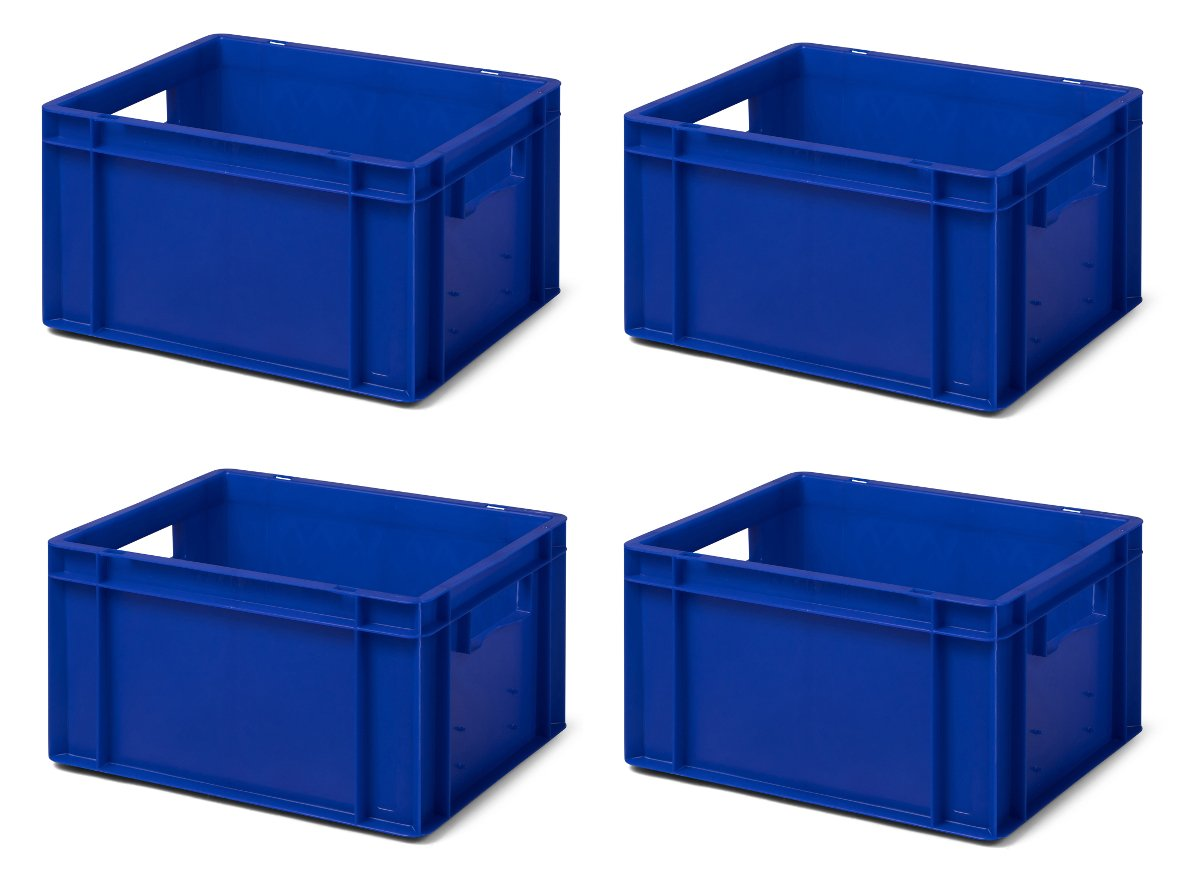 Volumen: 5.5 Liter 8 Stk Transport-Stapelkasten TK314-0 aus PP lebensmittelecht 300x200x145 mm Traglast: 25 kg grau LxBxH made in Germany Industriequalit/ät