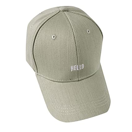 08addbb2 Amazon.com : Egmy Casual Baseball Cap Sport Fashion Solid Color Letter Hat  Sport Hat for Men Women (Army Green) : Garden & Outdoor
