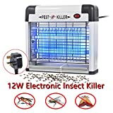Reelva Electric Fly Killer, Insect Pest Control Bug Fly Zapper, UV Bulbs Light For Home Domestic & Commercial Use Café Room 12W/20W/30W (12W)