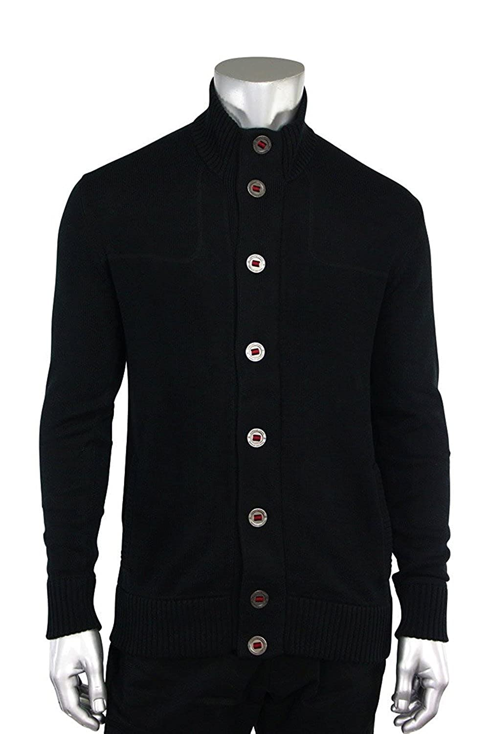 Jordan Craig Mock Neck Cardigan Sweater