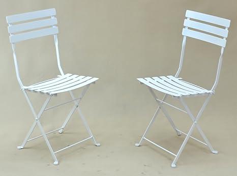 Silla plegable de metal (lote de 2 por cartón), una silla de ...