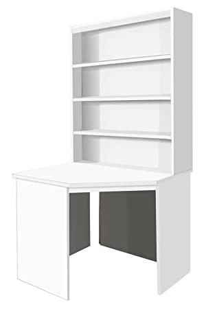 B CDK OJ IN WH White Corner Desk Unit Computer Table Home Office Furniture  UK Contemporary For Kids Childu0027s Childrenu0027s Student Bed In Living Room  Study ...