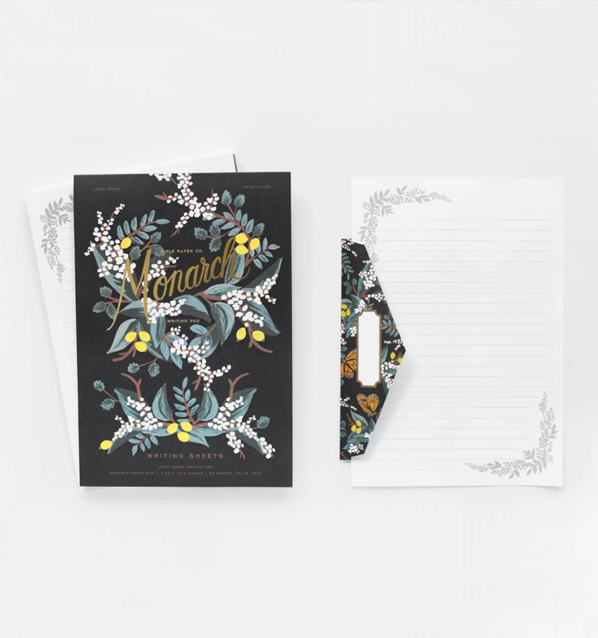 Monarch Lined Writing Pad and Matching Envelopes by Rifle Paper Co.