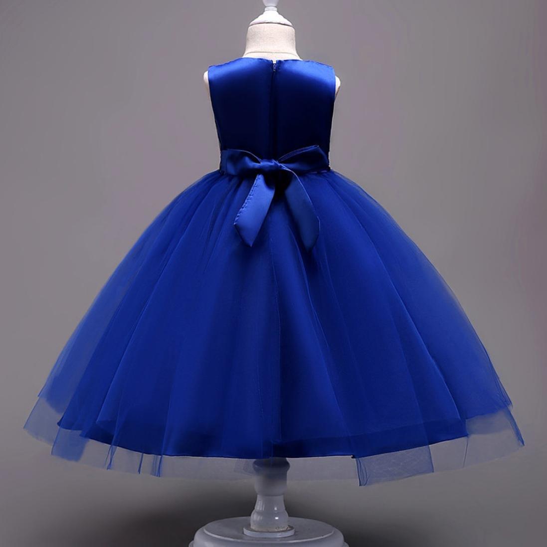 Remoción bestoppen bebé niñas vestido de princesa de, diseño de sin mangas flor Pageant Swing vestidos para niña a-Line bownet tutú de tul vestido de ropa ...