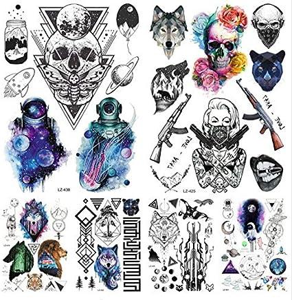 ruofengpuzi Adesivo tatuaggioFalsa Galaxia Astronauta Geometría ...