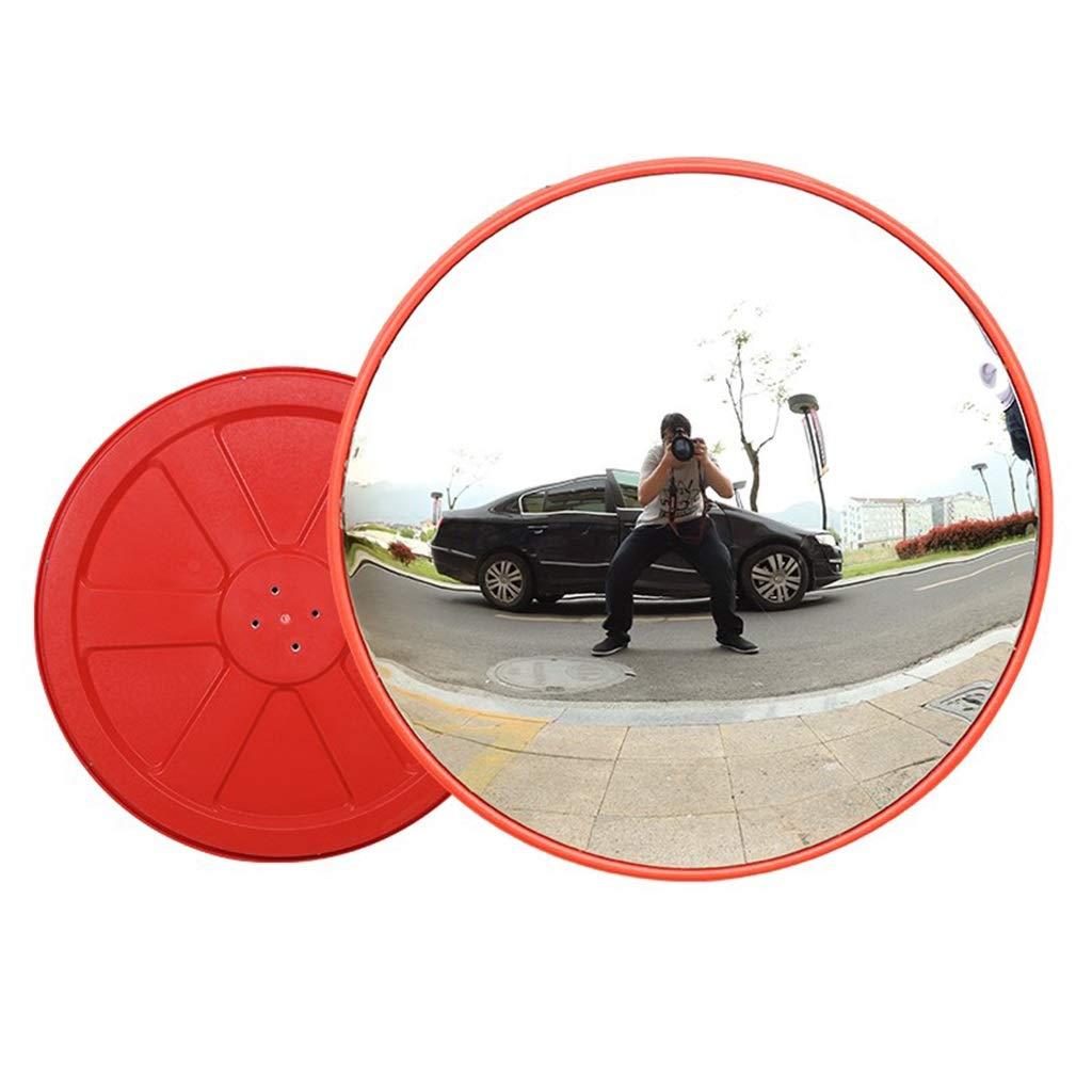 屋外と屋内のセキュリティミラー オレンジ色 ポリカーボネート材とABSフレーム 耐光性耐衝撃性 交通安全および店の安全のため (色 : Indoor, サイズ さいず : 80センチメートル) 80センチメートル Indoor B07S6TM5RZ