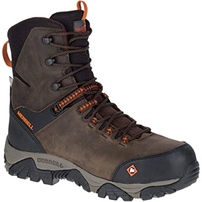 "Merrell Work Phaserbound 8"" Zip Waterproof CT Espresso 11.5 