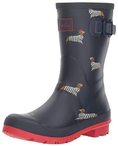 Joules Molly welly, Bottes de Pluie Femme, Bleu (French Navy Dachshund  Fnvdach)