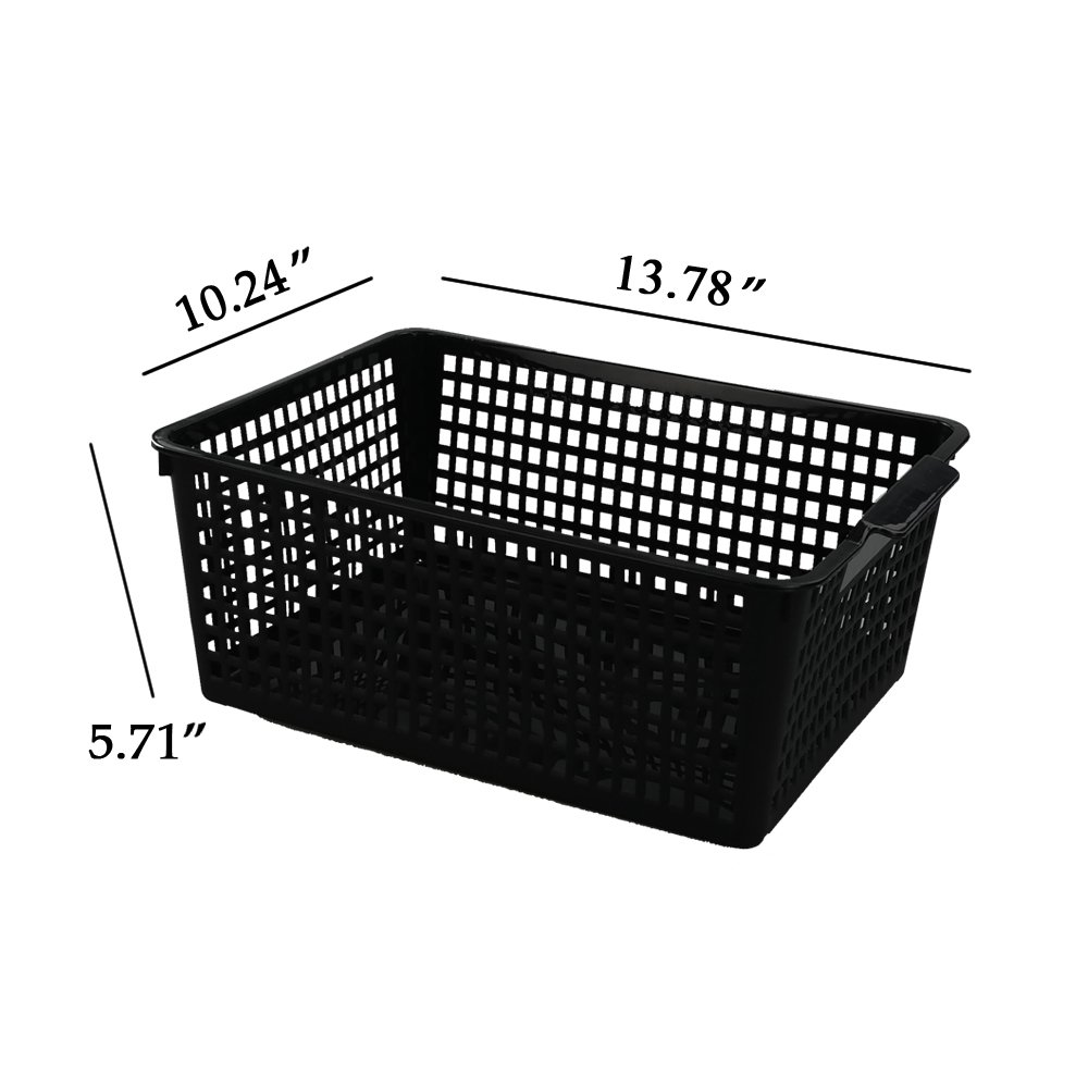 Kekow Large Ultra Basket Storage Organizers Bin, Perforated Design, 3-Pack, F by Kekow (Image #2)