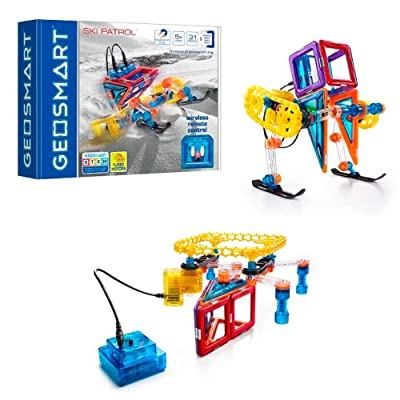 GeoSmart Ski Patrol - Build Remote-Controlled GeoMagnetic Vehicles That Perform on Multiple Surfaces with This STEM Focused Magnetic Construction Set Featuring Rechargeable Turbo Motors: Toys & Games [5Bkhe0805888]