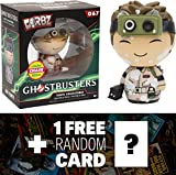 Ghostbusters Ray Stantz - Marshmallow Splattered (Chaser): Funko Dorbz x Vinyl Figure + 1 FREE Classic Sci-fi & Horror Movies Trading Card Bundle (061586)
