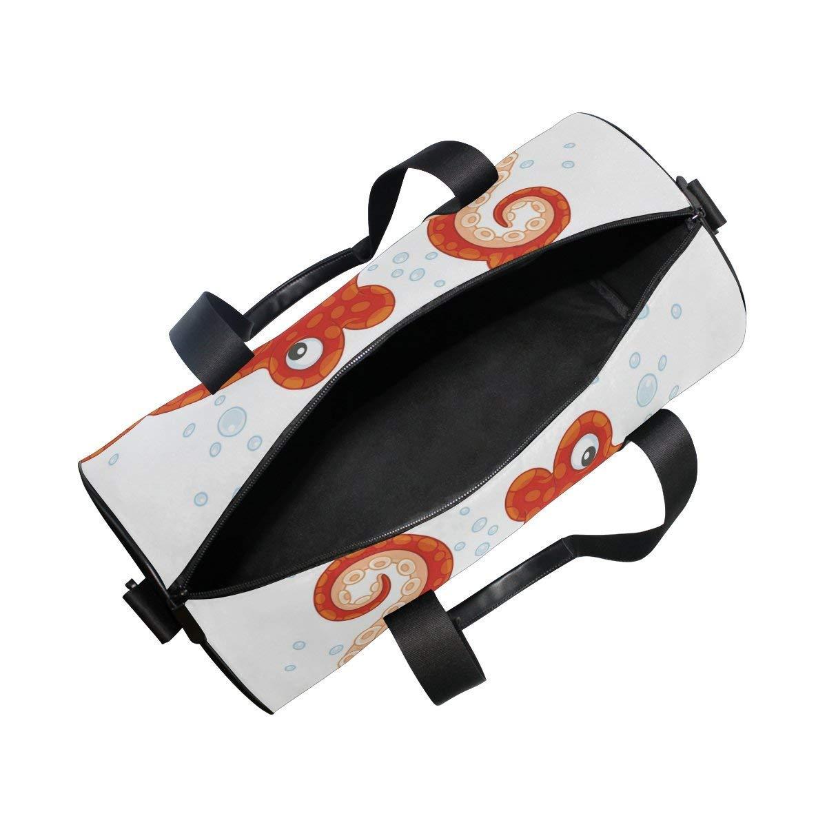 OuLian Gym Duffel Bag Octopus Sports Lightweight Canvas Travel Luggage Bag