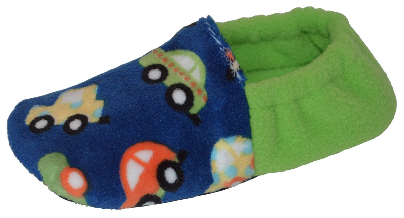 BePe Baby Toddler and Little Kids Slip Resistant House Slipper Shoes - Cars - Size 6