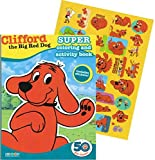 Clifford the Big Red Dog Coloring Book with Stickers (160 Pages, 5x8 Format)
