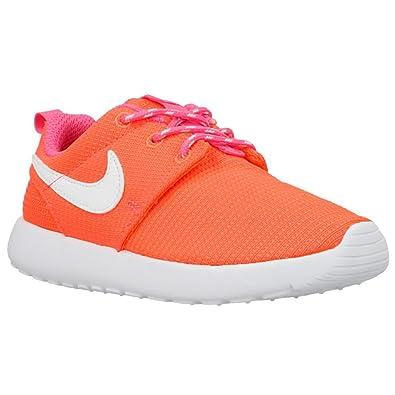 451cef3bb6446 Nike Roshe Run (PS TD) Baskets Enfants - Lava   Blanc-Rose