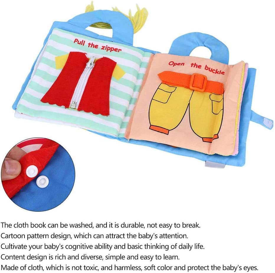 Libro de Tela Regalo para Beb/és,Libros de Actividades Suaves,Juguetes de libros Ocupados en 3D,Desarrollo de la Educaci/ón Temprana,Libro de Cuentos Sensoriales de Aprendizaje para 3-36 Meses # 1