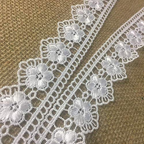 - Venise Trim Lace Floral Garden Run Double Border 2