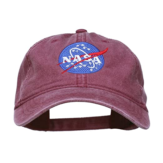 e0ec9f27 Image Unavailable. Image not available for. Color: e4Hats.com NASA Insignia  Embroidered Pigment Dyed Cap ...