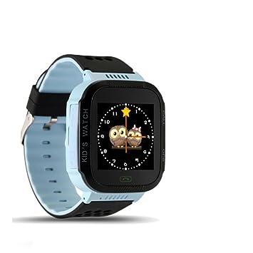 SNHWARE Niños Relojes con GPS Smartphone Estudiante Posicionamiento Watch,Blue