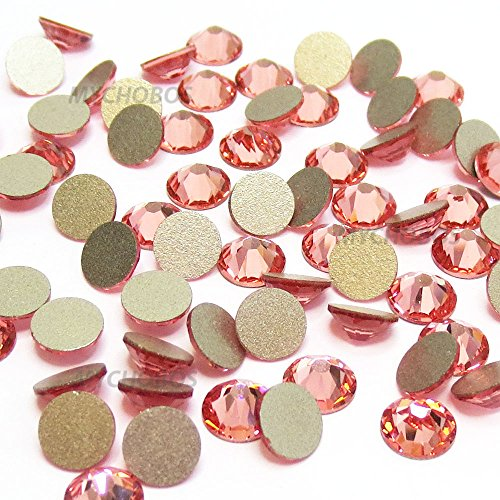 ROSE PEACH (262) pink Swarovski NEW 2088 XIRIUS Rose 30ss 6.4mm flatback No-Hotfix rhinestones ss30 36 pcs (1/4 gross) from Mychobos (Crystal-Wholesale)