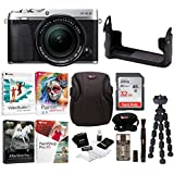 Fujifilm X-E3 Mirrorless Digital Camera w/XF18-55mm f/2.8-4 R LM OIS Lens (Silver) w/BLC Leather Case,32GB Memory Card & Editing Software Bundle