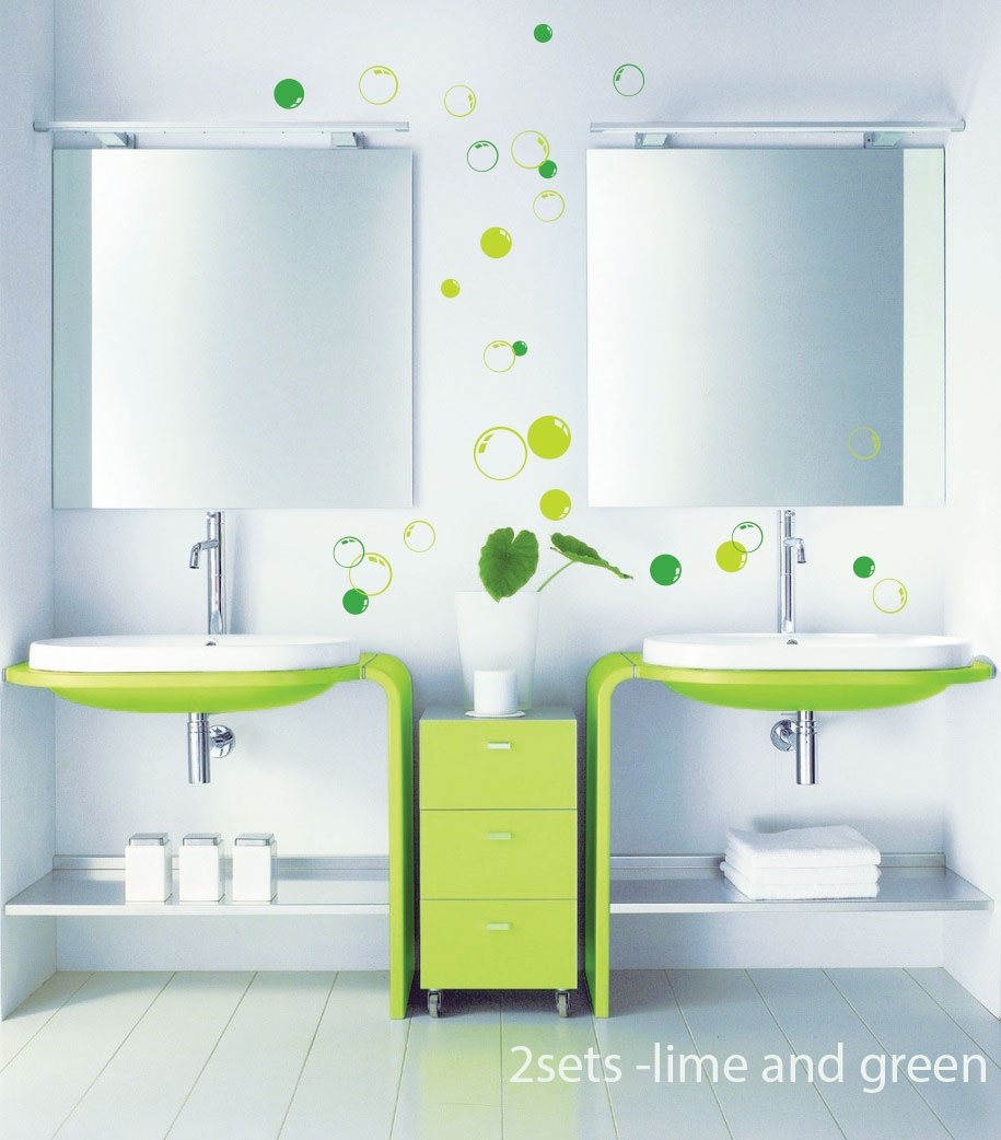 58 Bubbles Bathroom Window Shower Tile Wall Stickers, Wall Decals, Car  Decals: Amazon.co.uk: Kitchen U0026 Home Part 42