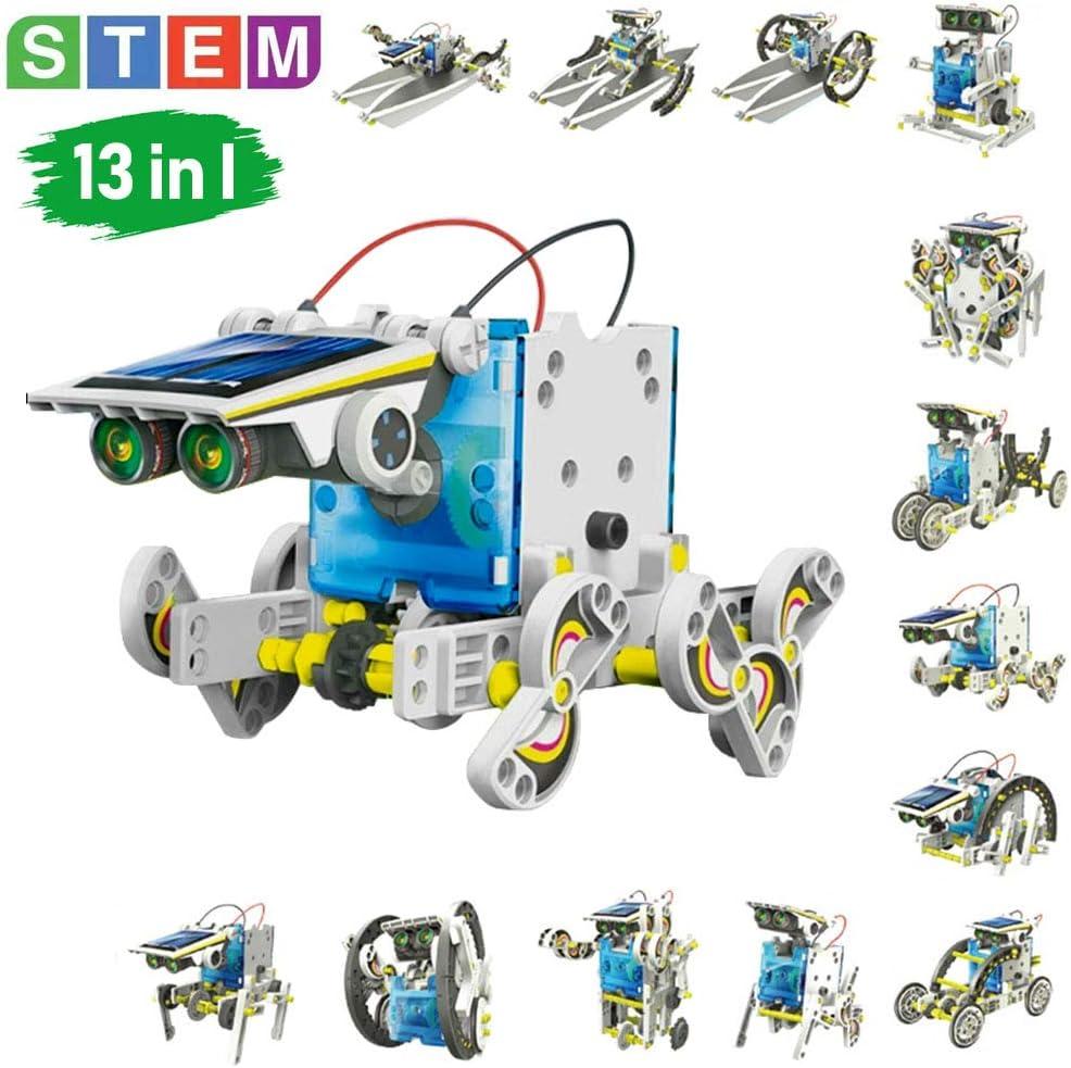 STEM Toys Solar Power kits Educational Solar Robot Kids Toys 13-in ...