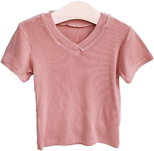 DANDANdianzi Los niños de Verano Camisetas Simples de algodón ...