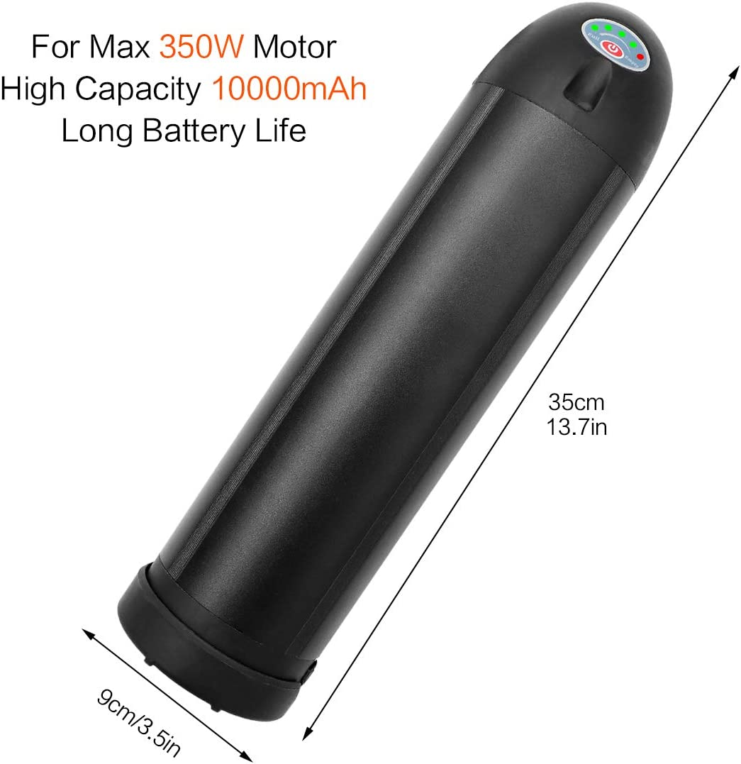 36V 10Ah Lithium Li-ion Battery For 250W 350W Electric Bicycle Silver Bottle