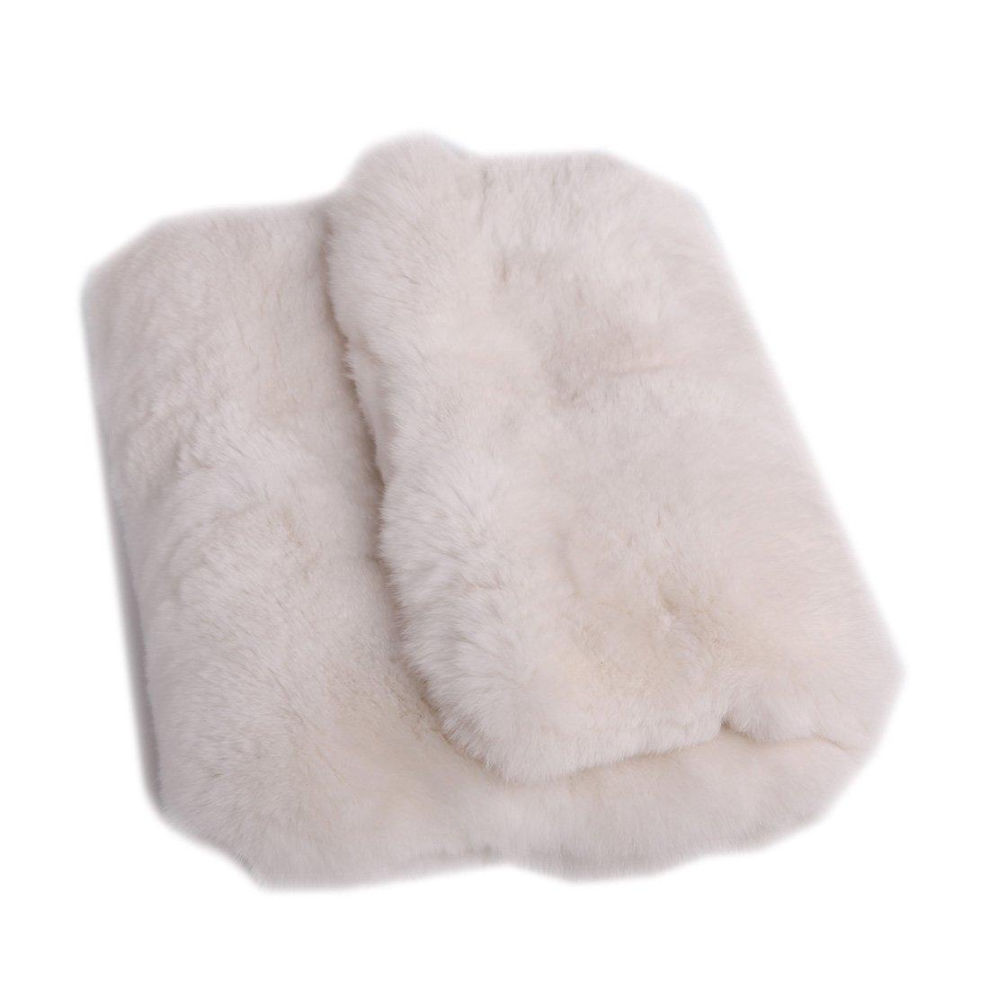 URSFUR Women's Rex Rabbit Fur Envelope Clutch Handbag Evening Party Bag Purse by URSFUR