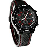Cool Men's Racer Military Pilot Army Silicone Sports Watch
