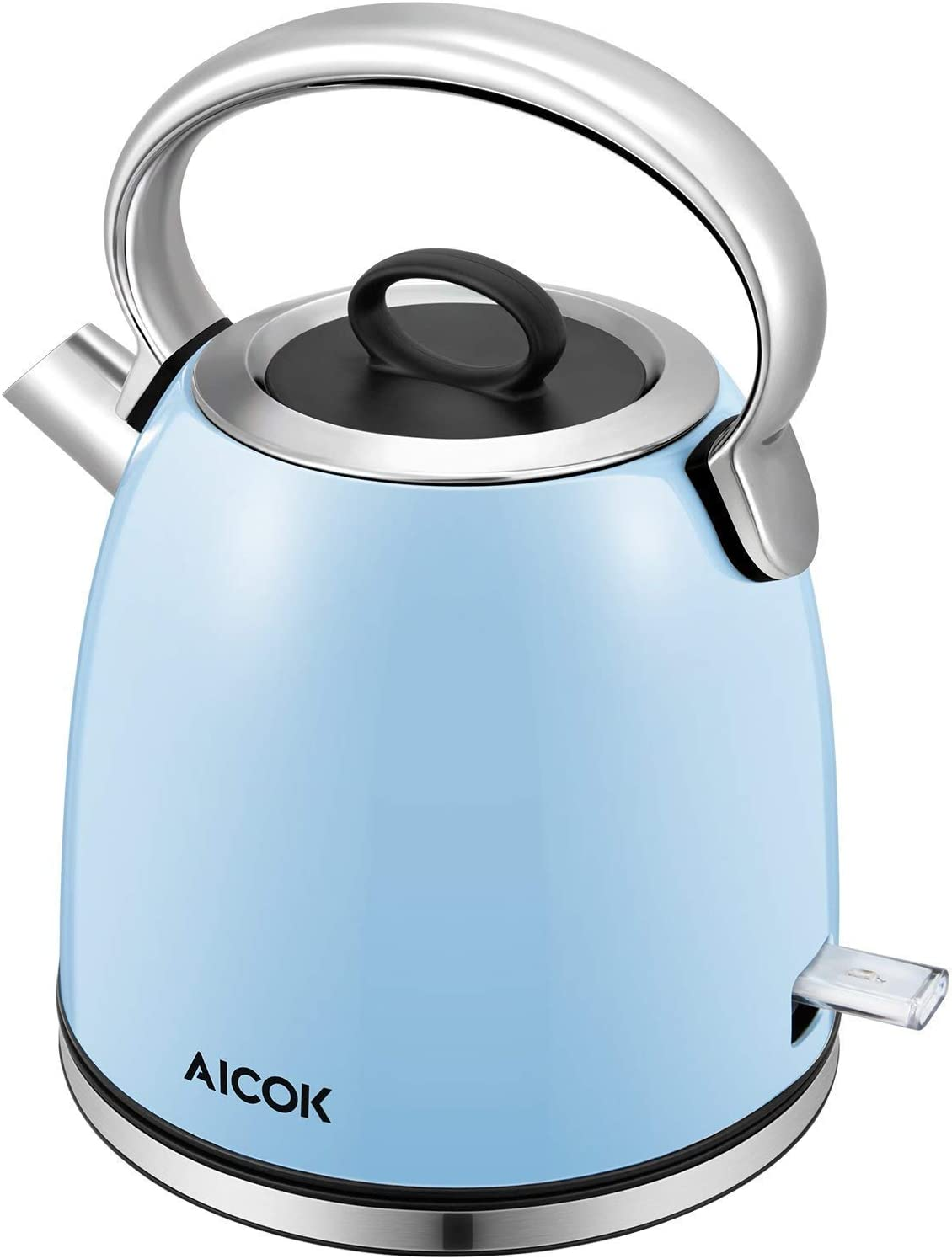 Electric Kettle Retro Electric Tea Kettle (BPA free), 1500W Rapid Water Boiler, Cordless Dome Kettle with Detachable Mesh Filter, British Strix for Auto off and Boil Dry Protection, 1.7L, Aicok Retro Series
