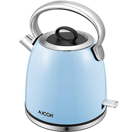 Amazon.com: Aicok - Tetera eléctrica (1500 W, 1,7 litros ...