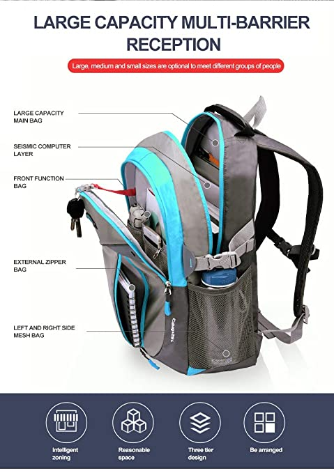 Amazon.com: Teenager Boys and Girls Fashion Large Capacity Reduce Ridge Burden Waterproof Rucksack Mochila Backpack Junior high Student Bags ...