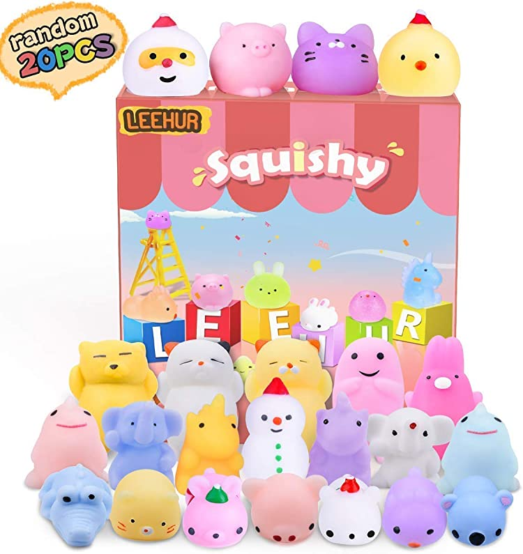 LEEHUR Unicorn Slow Rising Squishies Party Favors Jumbo Kawaii Donut Moon Squishy Set Soft Squeeze Stress Anxiety Relief Novelty Sensory Toys for Kids Adults Easter Gifts Easter Basket Stuffers Filler