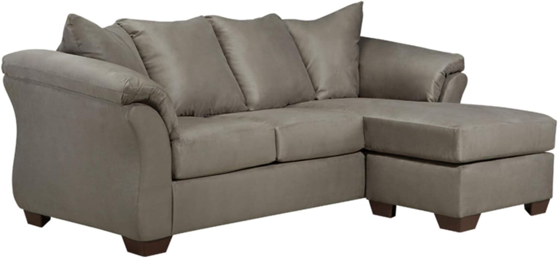 9/Darcy Contemporary Microfiber Sofa Chaise