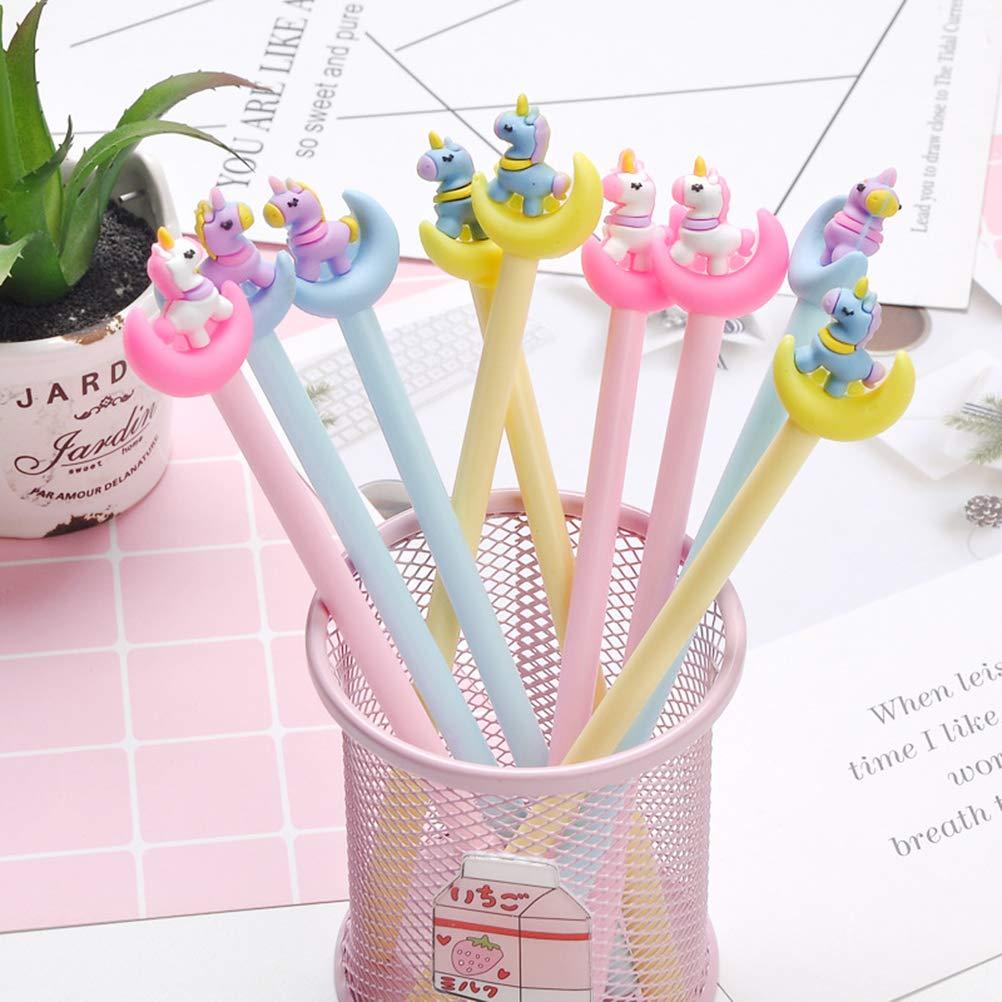 Toyvian 12 Penne Gel a Forma di Unicorno cancelleria per Scuola Ufficio Forniture per Bambini e pedaggi