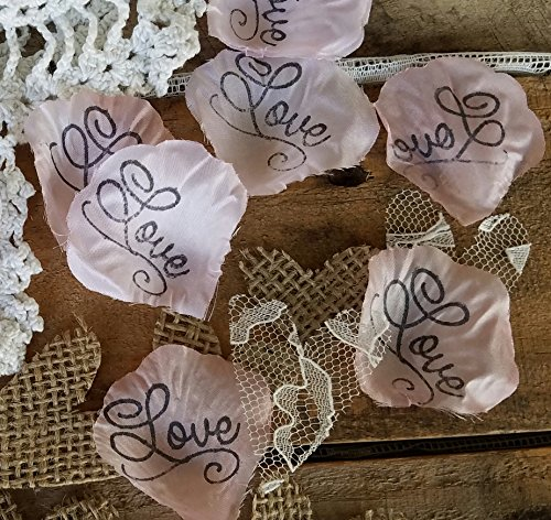 Burlap and Lace Silk Rose Petals, Petal Pink Flower Girl throw, rustic wedding aisle Confetti, table scatter, by Burlap And Bling Design Studio