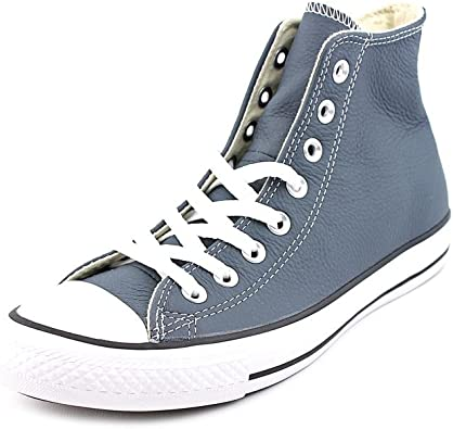 blue leather converse mens