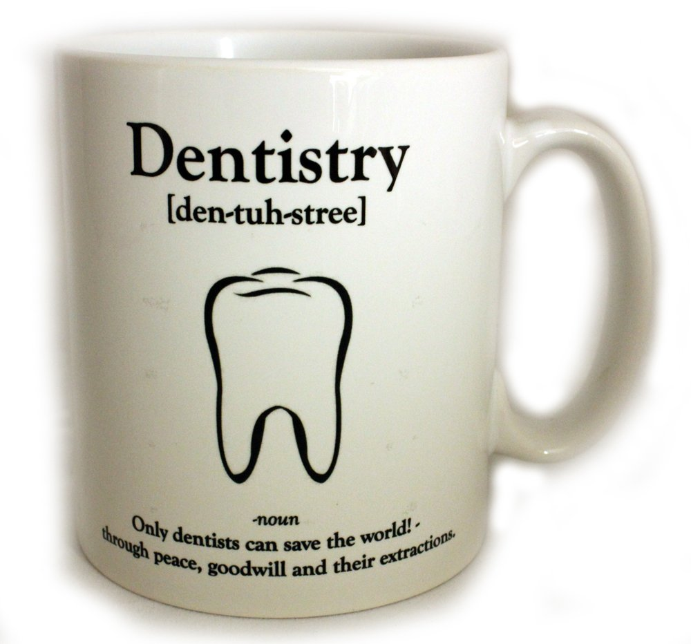 Dentistry Definition 11oz Gift Mug: Amazon.co.uk: Kitchen & Home