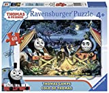 Ravensburger Thomas and Friends: Thomas Camps Glow-in-the-Dark Giant Floor 60 Piece Jigsaw Puzzle for Kids – Every Piece is Unique, Pieces Fit Together Perfectly
